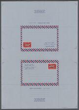KUWAIT - 1968 - , 25 fils Jet Airliner Aerogramme; Uncut tete-beche printers fi