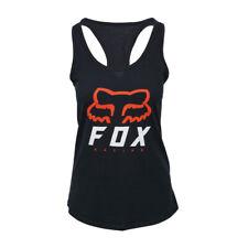 FOX RACING WOMENS LOGO  RACER BACK BLACK TANK