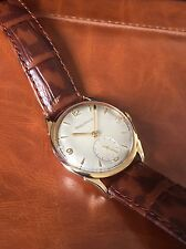 Vintage Jaeger LeCoultre Solid 9ct Gold P480/C watch Excellent Running