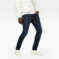 ELTO superstretch MED INDIGO Aged G-Star Raw 3301 Decostruire Jeans Attillati