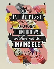 The Invincible Summer by Kavan and Company Art Print Inspirational Poster 11x14