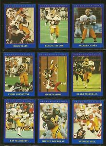 Jogo 1990 Lot of 9 Edmonton Eskimos CFL Football Cards