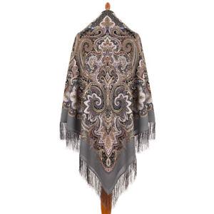 Pawlow Posad/Pavlovo Posad russischer Schal-Tuch Tradition146x146 Wolle 1935-1