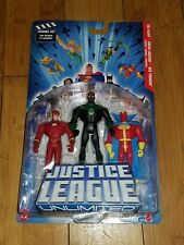 Justice League Unlimited 457 Flash Green Lantern Mattel 2004 Figures 1F red Torn