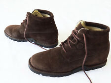 COLE HAAN Country SUEDE brown WATERPROOF ankle boots SIZE 8B fur lined