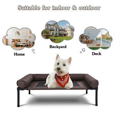 Portable Elevated Dog Bed Raised Pet Bed Dog Cot with Breathable Mesh