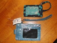 Lot of 2 - 1 - Vera Bradley * 1 New Womens Coin Purse ID Wallet - Blue