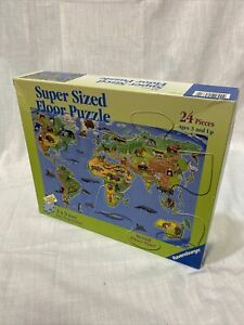 Super Sized Floor Puzzle Ravensburger 24 Piece World Map 2 x 3 Feet