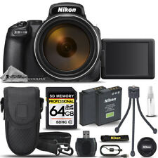 Nikon COOLPIX P1000 Digital Camera 125x Zoom WiFi +Case +Tripod- 64GB Kit