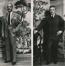 MODE 1952 -André Luguet, Noël Noël Acteurs Costumes Tailleurs Parisiens- PR 1089