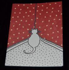 NAUGHTY CAT FACING CORNER Vintage 80's Kristin Elliott Inc. Note Cards Box of 10