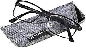 Foster Grant Eli Gun Men's Reading Glasses w/Rubber Temples FAST SHIP!!