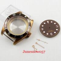 Bronze 41mm Watch Case + Watch Dial + Watch Pointer Fit ETA 2836 Auto Movement