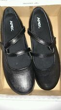 APEX A300 Mary Jane Shoes with Y Strap Black Leather 9.5 Wide US 41.5UK 7.5UK