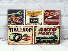Retro Garage Sign Vintage Tin Signs Metal Poster Home Garage Wall Decor