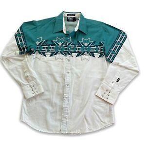 Brooks & Dunn Panhandle Slim Pearl Snap Western Shirt Aztec Style Long Sleeve