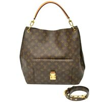 Louis Vuitton Metis M40781 Monogram 2way Shoulder Tote Hand Bag Brown Gold LV