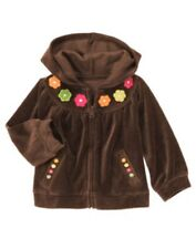Gymboree FALL FOR AUTUMN flowers velour hoodie jacket size 6-12 months NWT