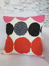 Designer Cushion Cover, Red, Pinks, Black, Designers Guild, Cotton, Circles.
