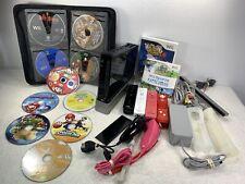 Nintendo Wii Console Black Bundle 17 Games 4 Controllers 2 Nunchucks Read Descri