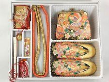 Vintage Japanese Child's 6 Pcs Shichigosan Accessory Handbag & Zori Set: Mar18/B