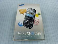 Samsung Chat 335 gt-s3350 Noir! NOUVEAU & NEUF dans sa boîte! Sans Simlock! Inutilisé! RAR!