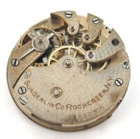 "HIGH GRADE USA PRIVATE LABEL ""SUNDERLIN Co"" NY POCKET WATCH MOVEMENT & DIAL."
