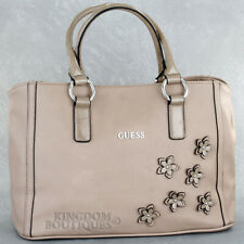 New GUESS Purse Womens Handbag Marcia Tote Shopper Bag Taupe Logo Sac Bolso NwT