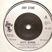 "JUDY STONE - Hasta Manana - Excellent Condition 7"" Single Power Exchange PX 226"
