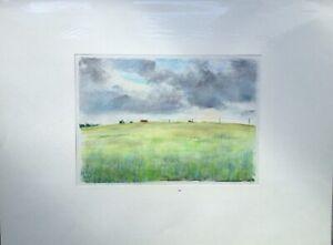 """Franz Ehmke 1928 -2018 GDR Painter° """" At Schönfließ. Barley Field """""""