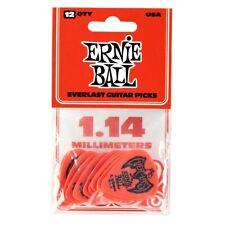 Ernie Ball Everlast Picks 1.14mm, Red, Pack of 12