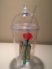 Disney Parks Beauty and The Beast Belle red Rose Light Up Tumbler Cup
