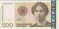 Norway banknote P51 new variety-9444 500 Kroner 2012 with letter Prefix, UNC