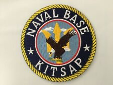 US NAVAL BASE KITSAP PATCH MEASURES 4 INCHES DIAMETER