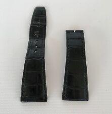 AUTHENTIC CARTIER BLACK CROCODILE ALLIGATOR WATCH STRAP TANK DIVAN 29 MM - 24 MM