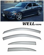 WellVisors Side Window Visors Deflector For 08-14 Mercedes Benz W204 C-Class 4Dr