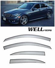 WellVisors Side Window Visors Deflector For 08-14 Mercedes Benz W204 C-Class 4Dr