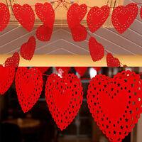 3M coeur nontissés tissu drapeau partie guirlande décor bannière Bunting mariage