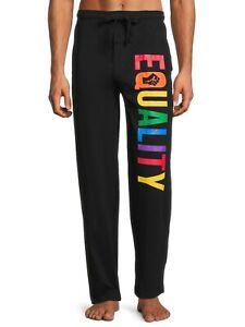 "BIOWORLD Men's L, XL, XXL Rainbow ""EQUALITY"" Lounge, Pajama or Sleep Pants NWT"