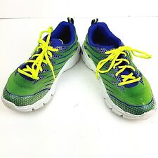 Skechers Boys Gel-Infused Sneakers Athletic Shoes Green Blue Memory Foam Sz 3