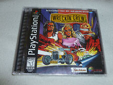 FACTORY SEALED PLAYSTATION PS1 VIDEO GAME WRECKIN CREW BRAND NEW NFS 3D RACING >