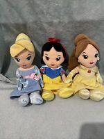"Disney Princess Soft Toy Bundle - Cinderella, Snow White & Belle - 9"" -Posh Paws"