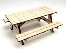 Gear Head RC 1/10 Scale Miniature Wood Picnic Table Kit GEA1277
