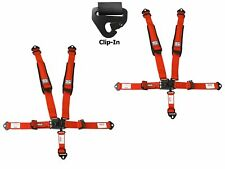 Simpson 2x2 Latch & Link Harness Seat Belts Clip In Red W/Black Hardware