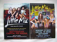 "LITTLE MIX Live ""Salute"" & ""Get Weird"" 2014/16 UK Arena Tours Promo flyers x 2"