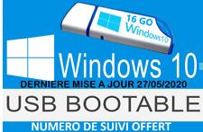 Clé USB installation Windows 10 dernière version (2004) 32 & 64 Bits tous PCs!