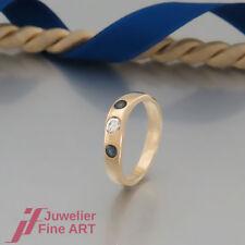 """SCHNÄPPCHEN: RING """"Mit Saphir & 1 Brillant (Diamant) ca. 0,20ct"""" in 18K/750 Gold"""