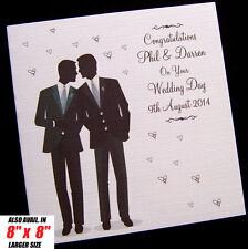 Luxury Handmade Personalised Male Gay Wedding Card
