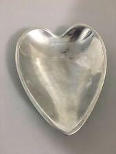 "Nambe 118B Heart Shaped Sweetheart Bowl Dish 8.5"""