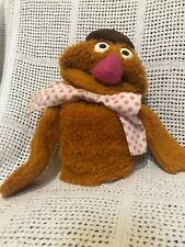 Vintage Fozzie Bear The Muppets Plush Hand Puppet Toy Collectable Fisher Price